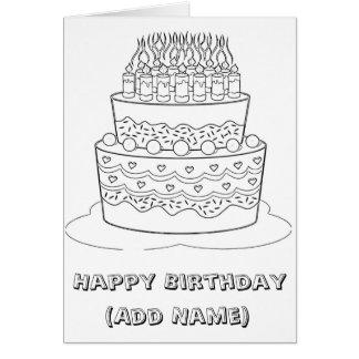 Color del feliz cumpleaños él usted mismo tarjeta