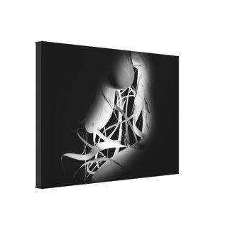 Color del número abstracto _16 - blanco en negro lona envuelta para galerias