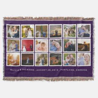 Color del personalizado del collage de la foto manta