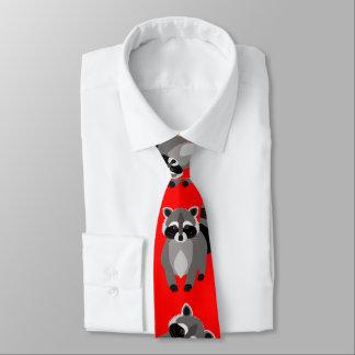 Color divertido del personalizado del mapache corbata personalizada