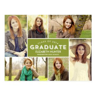 Color Editable de la postal de la graduación del e