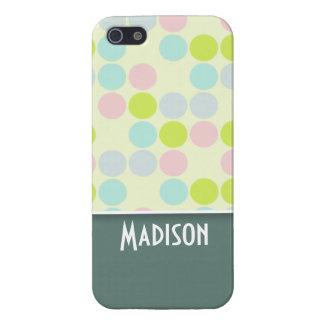 Color en colores pastel lindo iPhone 5 cobertura