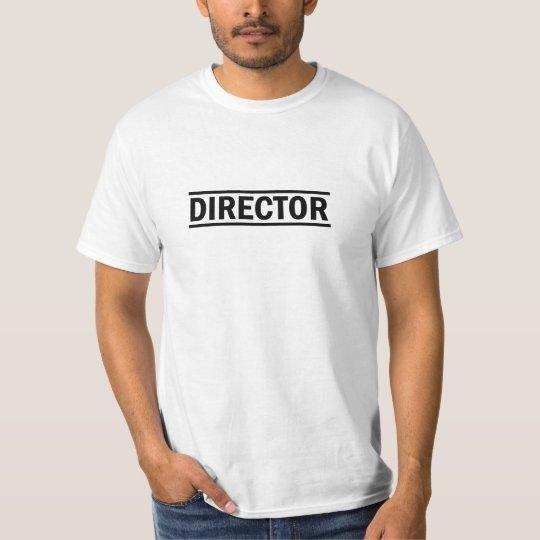 Color negro del director (diseño útil) camiseta