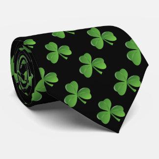 Color oro afortunado del trébol de la hoja del corbata personalizada