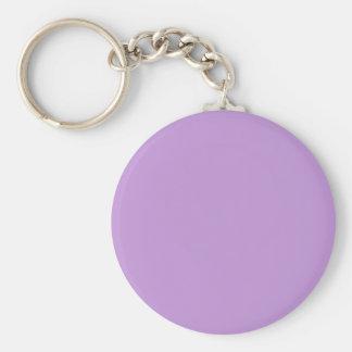 Color púrpura encantadoramente exquisito P07 Llavero Redondo Tipo Chapa