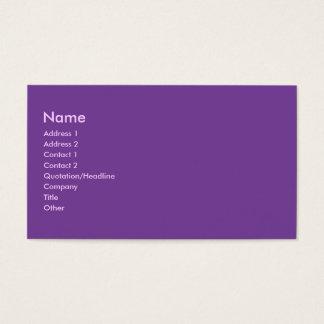 Color púrpura tarjeta de negocios