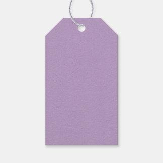 Color purpúreo claro texturizado etiquetas para regalos