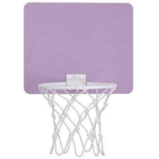 Color purpúreo claro texturizado mini tablero de baloncesto