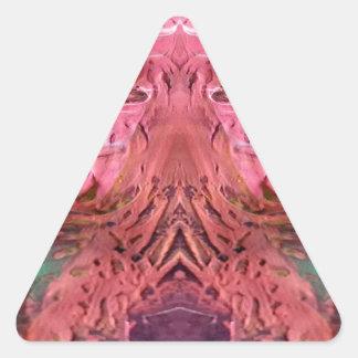 color rojo pegatina triangular