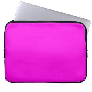 Color rosado brillante funda para portátil