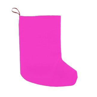 Color rosado imponentemente vivaz P35 Calcetín Navideño Pequeño
