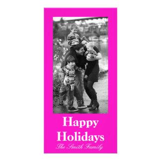 Color rosado imponentemente vivaz tarjeta fotografica personalizada