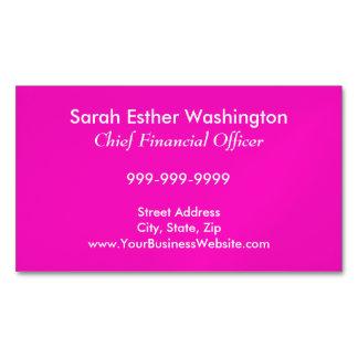 Color rosado imponentemente vivaz tarjetas de visita magnéticas