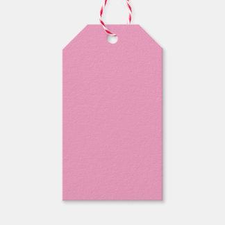 Color rosado suave etiquetas para regalos