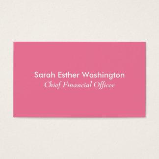 Color rosado tarjeta de visita