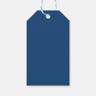 Color sólido azul noble de Mónaco Etiquetas Para Regalos