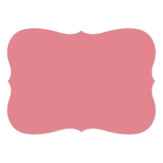 Color sólido de gama alta rosado de la fresa invitación 12,7 x 17,8 cm