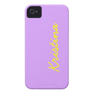Color sólido de la lila preciosa funda para iPhone 4