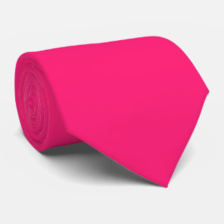 Color sólido del rosa impactante corbata personalizada