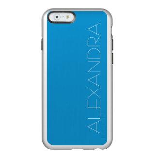 Color sólido del Topaz azul Funda Para iPhone 6 Plus Incipio Feather Shine