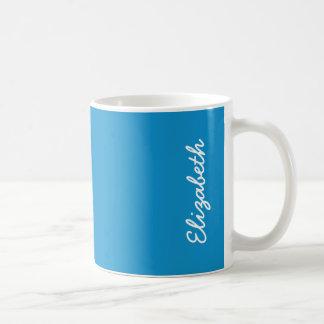 Color sólido del Topaz azul Taza De Café