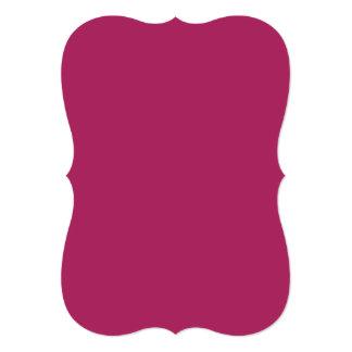 Color sólido rojo violeta invitacion personal