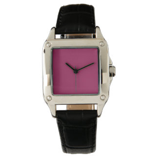 Color sólido rojo violeta relojes