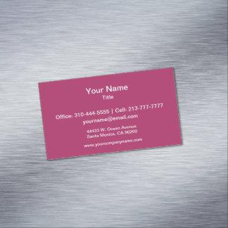 Color sólido rojo violeta tarjetas de visita magnéticas (paquete de 25)