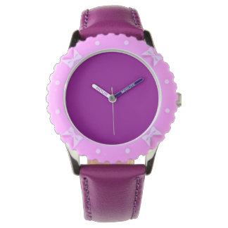 Color sólido violeta reloj