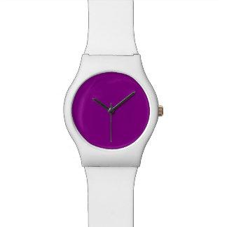Color sólido violeta relojes