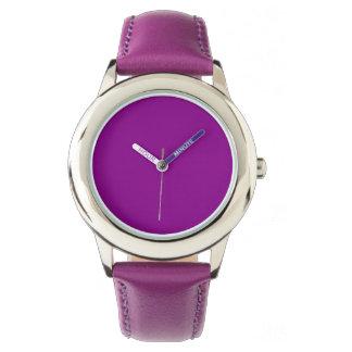 Color sólido violeta relojes de mano