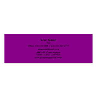 Color sólido violeta tarjetas de visita mini