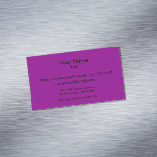 Color sólido violeta tarjetas de visita magnéticas (paquete de 25)