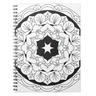 Color-Su-Propia mandala floral 060517_4 Cuaderno