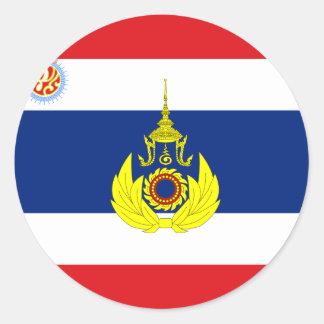 Color tailandés real de la unidad del ejercito, pegatina redonda