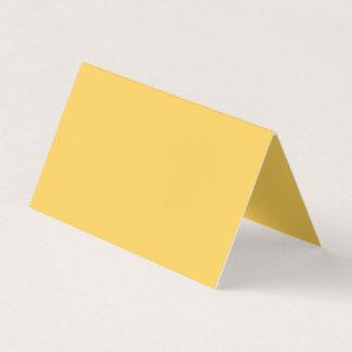 Color tranquilo del amarillo de la mostaza tarjeta de visita