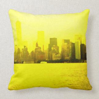 Color urbano de la decoración de la almohada