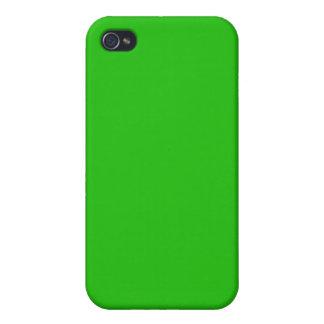 color verde claro simple iPhone 4 carcasas
