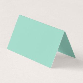 Color verde del océano tarjeta de visita