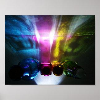 Color y luz de la física póster