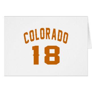 Colorado 18 diseños del cumpleaños tarjeta