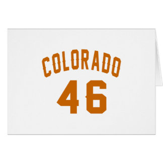 Colorado 46 diseños del cumpleaños tarjeta