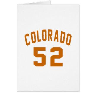 Colorado 52 diseños del cumpleaños tarjeta