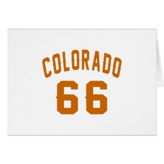 Colorado 66 diseños del cumpleaños tarjeta
