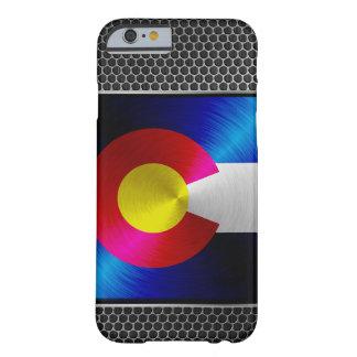 Colorado cepilló la bandera del metal funda barely there iPhone 6