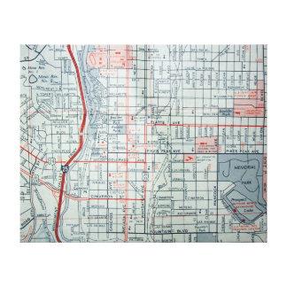 COLORADO SPRINGS, mapa del vintage del CO Lienzo