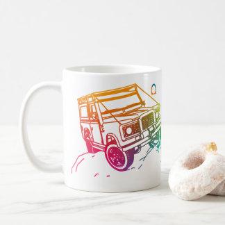 Coloreado 1 jeep 3D Taza De Café