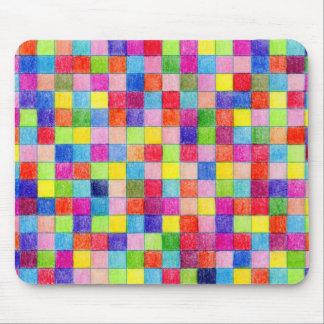 Coloreado en cuadrados del papel cuadriculado alfombrilla de ratón