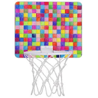 Coloreado en cuadrados del papel cuadriculado mini aro de baloncesto