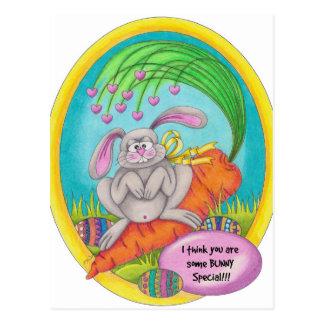 Colorear-palabras del conejito postal